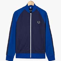 Fred Perry Bomber Track Jacket- RICH NAVY - SALE sz S only