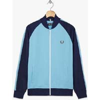 Fred Perry Bomber Track Jacket- ALASKAN BLUE - SALE sz S only