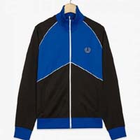Fred Perry Chevron Track Jacket- BLACK (Sale price!)
