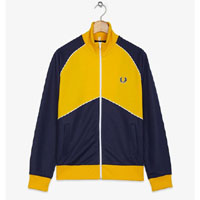 Fred Perry Chevron Track Jacket- RICH NAVY (Sale price!)