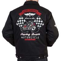 Racing Death Lined Chino Jacket by Lucky 13