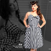 Cattle Kate Gingham Swing Dress by Lucky 13 - SALE sz  M only
