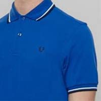 Fred Perry Classic Fit Twin Tipped Polo Shirt- REGAL BLUE - SALE sz Small only