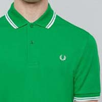 Fred Perry Classic Fit Twin Tipped Polo Shirt- FERN GREEN (Sale price!)