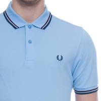 Fred Perry Classic Fit Twin Tipped Polo Shirt- SKY BLUE (Sale price!)