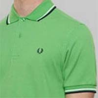 Fred Perry Classic Fit Twin Tipped Polo Shirt- SPRING GREEN - SALE sz S only