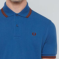 Fred Perry Classic Fit Twin Tipped Polo Shirt- IMPERIAL / DEEP RED (Sale price!)