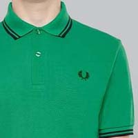 Fred Perry Laurel Collection Twin Tipped Polo Shirt- RGB GREEN (Made In England!) (Sale price!)