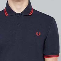 Fred Perry Laurel Collection Twin Tipped Polo Shirt- NAVY/RED (Made In England!) (Sale price!)