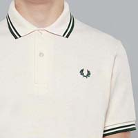 Fred Perry Laurel Collection Twin Tipped Polo Shirt- BEIGE (Made In England!)