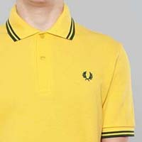 Fred Perry Laurel Collection Twin Tipped Polo Shirt- MAIZE (Made In England!)