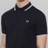 Fred Perry Slim Fit Polo Shirt- NAVY / WHITE / WHITE (Sale price!) sz 2X only