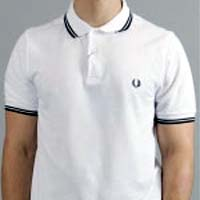 Fred Perry Slim Fit Polo Shirt- WHITE / BLACK / BLACK (Sale price!)