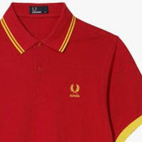Fred Perry 2014 World Cup Polo Shirt- SPAIN (Red)