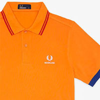 Fred Perry 2014 World Cup Polo Shirt- NETHERLANDS (Orange)