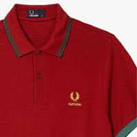 Fred Perry 2014 World Cup Polo Shirt- PORTUGAL (Blood) - sz S only
