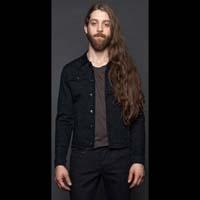 Black Stretch Denim Jacket by Lip Service - sz 2X only