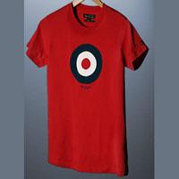 Throne (Mod Target) Slim Fit Guys Shirt by Ben Sherman- TARGET RED (Sale price!)