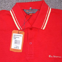 Romford Polo (Script Logo) by Ben Sherman- NEW TARGET RED (Cream Piping) (Sale price!)