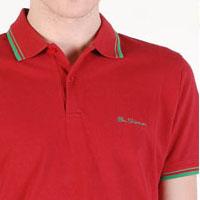 Romford Polo (Script Logo) by Ben Sherman- RIO RED (Sale price!) sz XL only