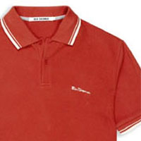 Romford Polo (Script Logo) by Ben Sherman- AURORA RED (Sale price!)