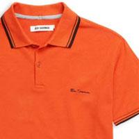 Romford Polo (Script Logo) by Ben Sherman- MECCA ORANGE - SALE sz L only
