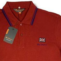 Romford Polo (Union Jack) by Ben Sherman- Triumph Red - SALE sz S only