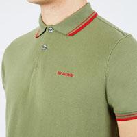 Romford Polo (Block Logo) by Ben Sherman- MILITARY GREEN (Sale price!)