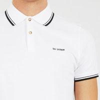 Romford Polo (Block Logo) by Ben Sherman- BRIGHT WHITE (Sale price!) sz XS only