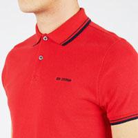 Romford Polo (Block Logo) by Ben Sherman- LETTERBOX RED (Sale price!)