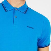 Romford Polo (Block Logo) by Ben Sherman- DIRECTOIRE BLUE - SALE sz Small only