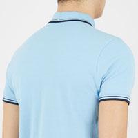 Romford Polo (Block Logo) by Ben Sherman- SKY BLUE (Sale price!)