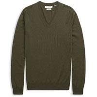 V-Neck Sweater by Ben Sherman- PORTOBELLO MARL or BLACK (Sale price!)