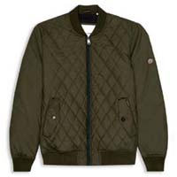 Quilted Bomber Jacket by Ben Sherman- FOREST NIGHT (Sale price!)