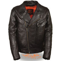 High Quality Side Set Belt Motorcycle Jacket by Milwaukee Leather