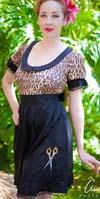 Scissors Leopard Drink Dress By Paper Doll - SALE sz M only