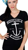 Drink Like a Fish girls V Neck Shirt by Steady Clothing - SALE sz M & L only