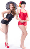Rosie Retro Bathing Suit by Steady Clothing  - SALE Red only sz XL & 2X