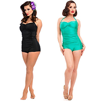 Nancy Retro Bathing Suit by Steady Clothing  - green only - SALE