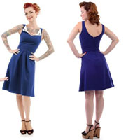 Sail Away Dress By Steady Clothing- NAVY - SALE