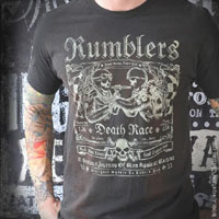 Rumblers Guys Shirt by Serpentine Clothing - SALE sz S only