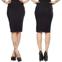 Bombshell Pencil Skirt by Sourpuss -in black - SALE sz M, 2X, & 3X only