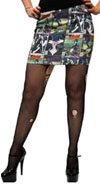 Elvira- Comic Print mini skirt by Kreepsville 666