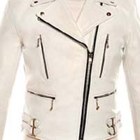 The Defector Leather Jacket in WHITE by Straight To Hell (Sale price!)