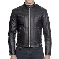 The Offender Leather Jacket in BLACK by Straight To Hell (Sale price!)