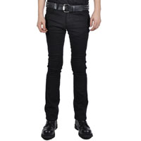 Trash And Vaudeville Boot Cut Stretch Jeans in BLACK by Tripp NYC