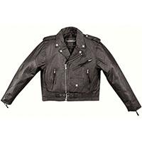 Kids Black Leather Biker Jacket by Highway Hawks (Unik Leather)
