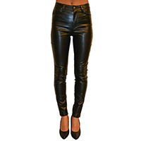 Vinyl Girls Stretch Jean by Tripp NYC - Faux Black Leather - SALE sz 24 & 29 only