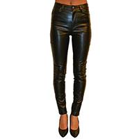 Vinyl Girls Stretch Jean by Tripp NYC - Faux Black Leather - SALE sz 24 & 29 only