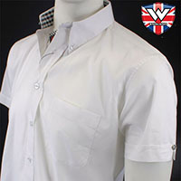 Vintage Button Down Shirt by Warrior Clothing- ACE FACE